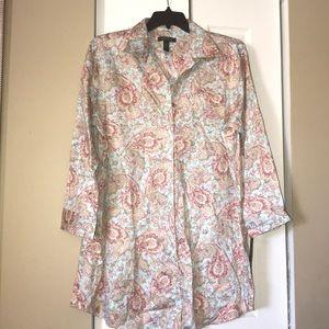 🆕 Ralph Lauren paisley night shirt 👚